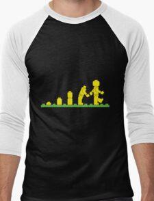 Build Block Walk of Evolution Men's Baseball ¾ T-Shirt