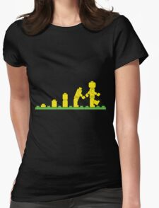 Build Block Walk of Evolution Womens Fitted T-Shirt