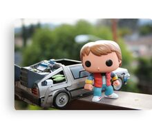 Marty Mcfly Delorean Canvas Print