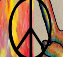 Peace in Every Color Sticker