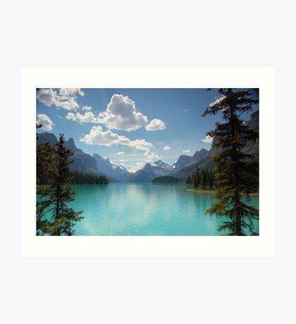Maligne Lake, Jasper National Park, Canada Art Print