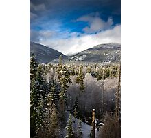 Blue skies in BC Photographic Print