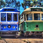 Twin trams by shaynetwright