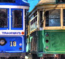 Twin trams Sticker