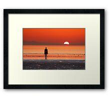 Iron man at sunset II Framed Print