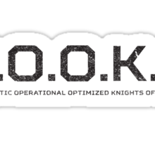 C.O.O.K.S. Cybernetic Operational Optimized Knights of Science Sticker