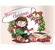 Merry Christmas from Hiccup and Toothless Poster