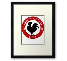 Black Rooster Italy Chianti Classico  Framed Print