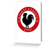 Black Rooster Italy Chianti Classico  Greeting Card