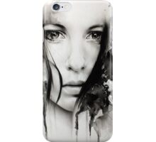 Realistic Girl Digital Art iPhone Case/Skin