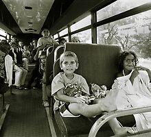 Koori kids on the way to the local pool by docophoto
