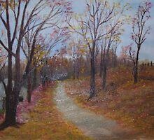 Hidden Cabin in Autumn by Cynthia Kondrick