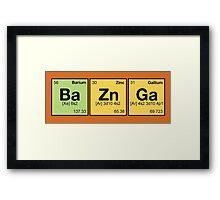 Ba Zn Ga! - periodic elements scrabble Framed Print