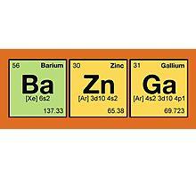 Ba Zn Ga! - periodic elements scrabble Photographic Print