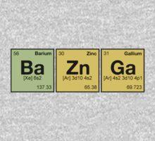 Ba Zn Ga! - periodic elements scrabble One Piece - Long Sleeve