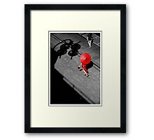 Red China Doll Framed Print