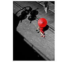 Red China Doll Photographic Print