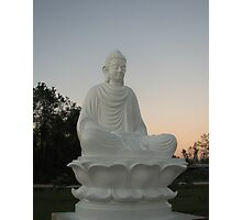 Budda at Sunset Photographic Print