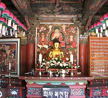 Inside a Buddist Temple by Debbie Montgomery