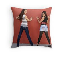 The Dynamic Duo, Chica and Itzel Throw Pillow