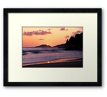 Whisky Bay Sunset Framed Print