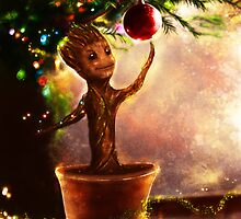 Christmas baby Groot by p1xer