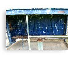 Arden street,North Melbourne, Football Ground-REEFER  STAND Canvas Print