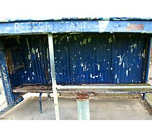 Arden street,North Melbourne, Football Ground-REEFER  STAND Photographic Print