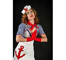Sexy female sailor  Photographic Print