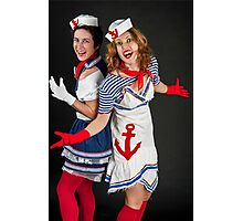 two sexy female sailors  Photographic Print
