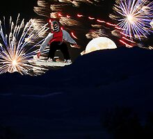 Snowboarding Explosion by Judson Joyce