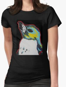 Penguin /black Womens Fitted T-Shirt