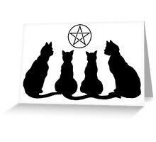 Wiccan Cat Lady  Greeting Card