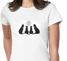 Wiccan Cat Lady  Womens Fitted T-Shirt