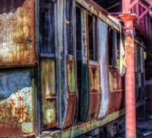 Derilict tram #1 Sticker