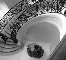 Walking down stairs by Ashley Ng