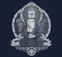 Gautama Buddha White Halftone by GrizzlyGaz