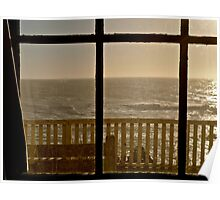 Pacific From Pigeon Point Lighthouse Poster