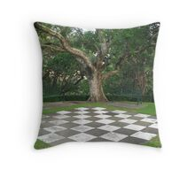 Chequered Past Throw Pillow