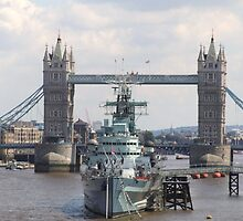 HMS Belfast by snapperjack