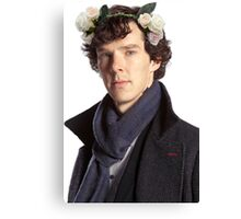 Sherlock Floral Crown Canvas Print
