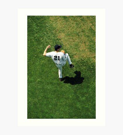 Baseball Player Art Print