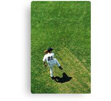 Baseball Player Canvas Print