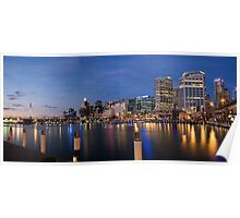 Panoramic View Of Darling Harbour Sydney Australia Poster