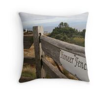 Pioneer Fencing Throw Pillow