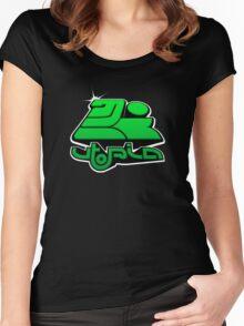 utopia interdimensional airways - green Women's Fitted Scoop T-Shirt