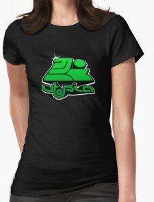 utopia interdimensional airways - green Womens Fitted T-Shirt