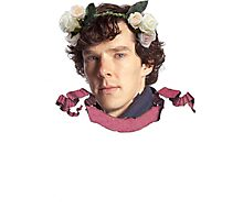Sherlock Flowers Photographic Print