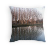 Riviera del Brenta Reflections Throw Pillow