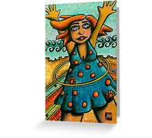 Hula Hips Greeting Card